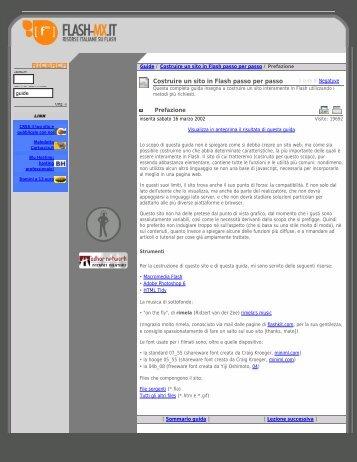 Prefazione | Costruire un sito in Flash passo per passo ... - Maella.It