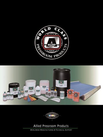 Allied Pressroom Products - Alliedchem