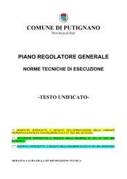 Piano Regolatore Generale - Comune di Putignano