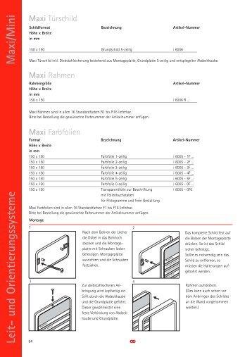 Maxi/Mini Leit- und Orientierungssysteme  54