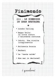 i quaderni - Finimondo