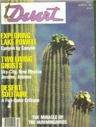 Sky-City, New Mexico HE HUMMINGBIRDS - Desert Magazine of ...