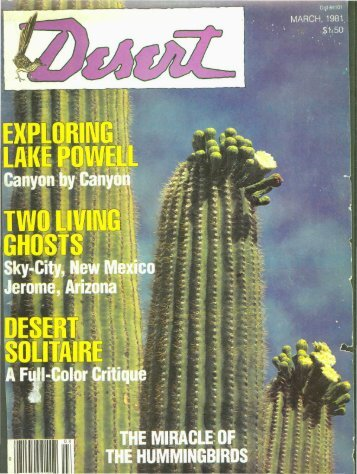 Sky-City, New Mexico HE HUMMINGBIRDS - Desert Magazine of ...