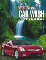 new 12-page Car Wash Product Guide - Warsaw Chemical ...