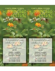 The hummingbirds of Georgia cordially invite you to attend their ...