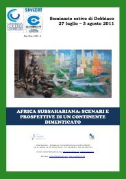 Cartellina Seminario Dobbiaco 2011_ Africa ... - VN Studenti
