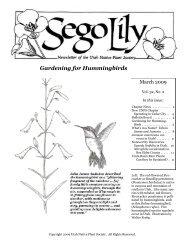 Gardening for Hummingbirds - Utah Native Plant Society