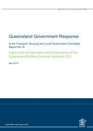 Queensland Government Response