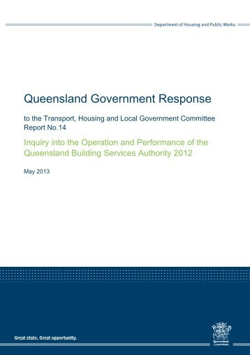 Queensland Government Response