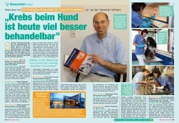 """""""Krebs beim Hund ist heute viel besser ... - Tierklinik Hofheim"""