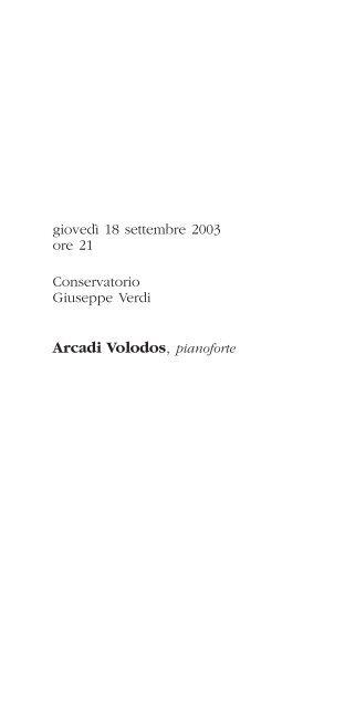 Arcadi Volodos, pianoforte - Città di Torino