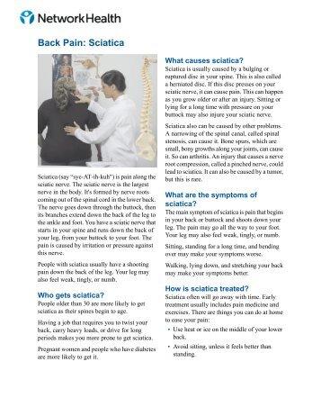 Back Pain: Sciatica - Network Health