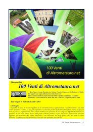 100 Venti di Altrometauro.net Libro telematico relativo ... - Peppe Dini