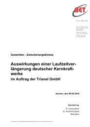 Studie des Aachener Energieberatungsunternehmens BET - Trianel