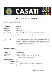 SPECIALLINE YOL ÇİZGİ BOYASI - Casati Boya