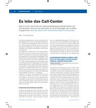 Es lebe das Call-Center - tricontes