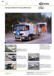 Kamyona Monteli Yol Çizgi Makinaları - Hofmann GmbH