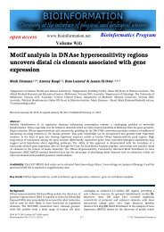 Motif analysis in DNAse hypersensitivity regions ... - Bioinformation