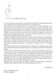 Sussidio - Arcidiocesi di Lucca