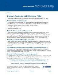 Trimble Infrastructure VRS3Net Apps: FAQs