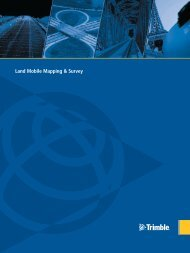 Land Mobile Mapping & Survey - Trimble