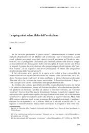 Le spiegazioni scientifiche dell'evoluzione - Acta Philosophica
