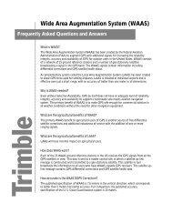 Wide Area Augmentation System (WAAS) - Trimble