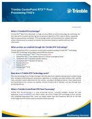 Trimble CenterPoint RTX? Post Processing FAQ's