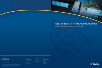 TRIMBLE RTX TECHNOLOGY FOR INFRASTRUCTURE ...