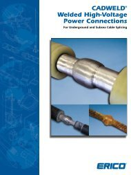 CADWELD® Welded High-Voltage Power Connections