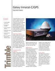Galaxy Inmarsat-C/GPS - Trimble