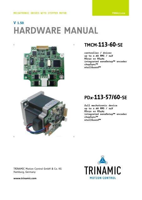 TRINAMIC PD-146 PANDRIVE CANOPEN TREIBER HERUNTERLADEN