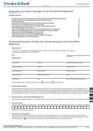 Kartenantrag und weitere Unterlagen für die ... - Triodos Bank