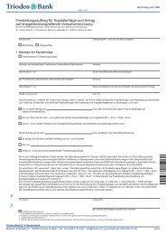 Freistellungsauftrag für Kapitalerträge und Antrag auf ... - Triodos Bank