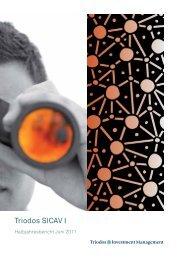 Halbjahresbericht Triodos SICAV I Juni 2011 - Triodos Bank
