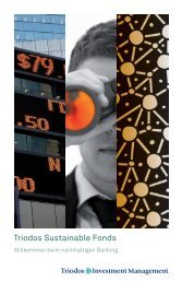 Broschüre Triodos Sustainable Fonds - Triodos Bank