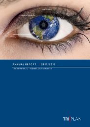 Annual report 2011/2012 - Triplan AG