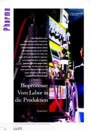Bioprozesse: Vom Labor in die Produktion - Triplan AG