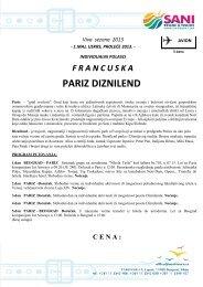 PARIZ DIZNILEND - Sani Tours