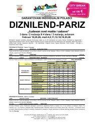 GARANTOVANI INDIVIDUALNI POLASCI DIZNILEND-PARIZ