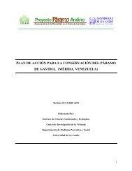 Plan de acción para la conservación del páramo - Condesan