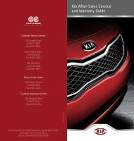 Kia After-Sales Service and Warranty Guide
