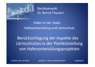 Vortrag 2 Lärmschutzes in der Planfeststellung - Dr ... - HTG-online