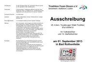 Ausschreibung - Triathlon-Team Dissen eV