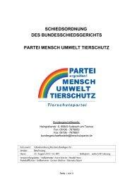 Schiedsordnung des Bundesschiedsgericht der Partei Mensch ...