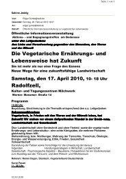 Die Vegetarische Ernährungs - Partei Mensch Umwelt Tierschutz
