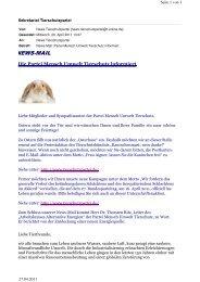 NEWS-MAIL - Partei Mensch Umwelt Tierschutz