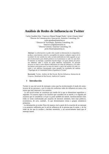 Análisis de Redes de Influencia en Twitter