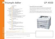 L P 4 0 2 2 - TA Triumph-Adler GmbH