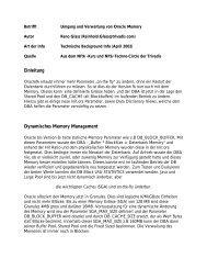Umgang und Verwaltung von Oracle Memory / D - Trivadis